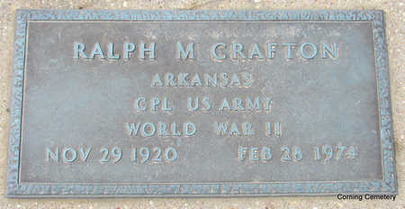 CRAFTON  (VETERAN WWII), RALPH M - Clay County, Arkansas | RALPH M CRAFTON  (VETERAN WWII) - Arkansas Gravestone Photos