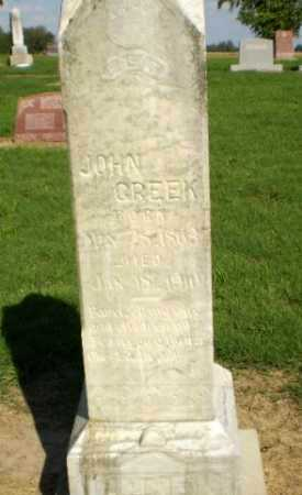 CREEK, JOHN - Clay County, Arkansas | JOHN CREEK - Arkansas Gravestone Photos