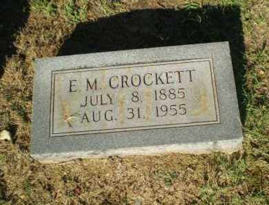 CROCKETT, E.M. - Clay County, Arkansas | E.M. CROCKETT - Arkansas Gravestone Photos