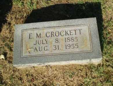 CROCKETT, E.M. - Clay County, Arkansas   E.M. CROCKETT - Arkansas Gravestone Photos