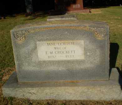 DORTCH CROCKETT, JANE - Clay County, Arkansas | JANE DORTCH CROCKETT - Arkansas Gravestone Photos