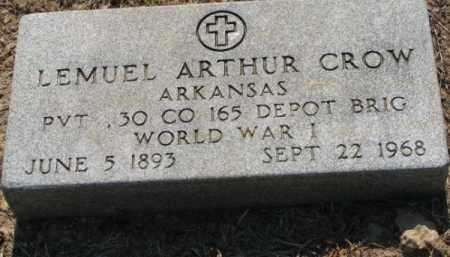 CROW (VETERAN WWI), LEMUEL ARTHUR - Clay County, Arkansas | LEMUEL ARTHUR CROW (VETERAN WWI) - Arkansas Gravestone Photos