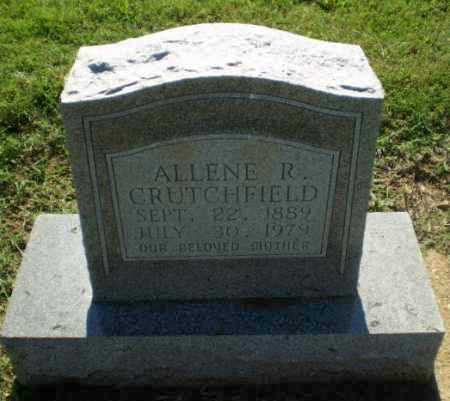 CRUTCHFIELD, ALLENE R - Clay County, Arkansas | ALLENE R CRUTCHFIELD - Arkansas Gravestone Photos