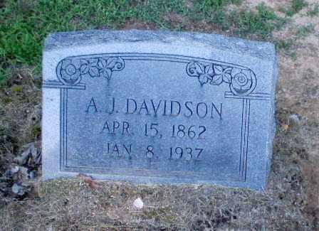 DAVIDSON, A.J. - Clay County, Arkansas | A.J. DAVIDSON - Arkansas Gravestone Photos
