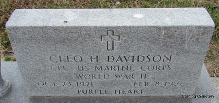 DAVIDSON (VETERAN WWII), CLEO H - Clay County, Arkansas | CLEO H DAVIDSON (VETERAN WWII) - Arkansas Gravestone Photos