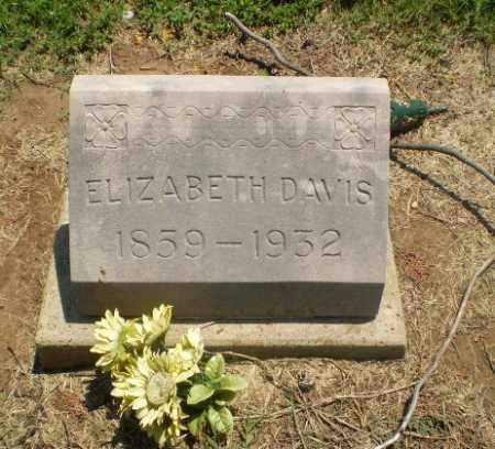 DAVIS, ELIZABETH - Clay County, Arkansas | ELIZABETH DAVIS - Arkansas Gravestone Photos