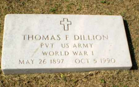 DILLION  (VETERAN WWI), THOMAS F - Clay County, Arkansas | THOMAS F DILLION  (VETERAN WWI) - Arkansas Gravestone Photos