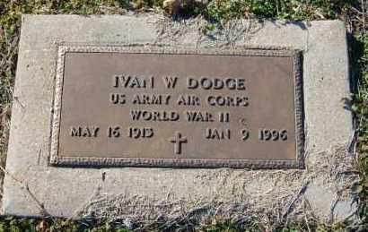 DODGE (VETERAN WWII), IVAN W - Clay County, Arkansas | IVAN W DODGE (VETERAN WWII) - Arkansas Gravestone Photos