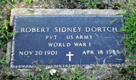 DORTCH  (VETERAN WWI), ROBERT SIDNEY - Clay County, Arkansas | ROBERT SIDNEY DORTCH  (VETERAN WWI) - Arkansas Gravestone Photos