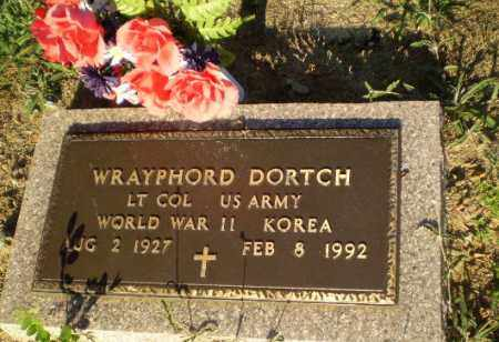 DORTCH  (VETERAN 2 WARS), WRAYPHORD - Clay County, Arkansas | WRAYPHORD DORTCH  (VETERAN 2 WARS) - Arkansas Gravestone Photos