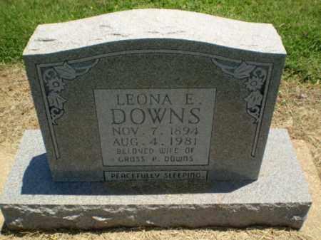 DOWNS, LEONA E - Clay County, Arkansas | LEONA E DOWNS - Arkansas Gravestone Photos