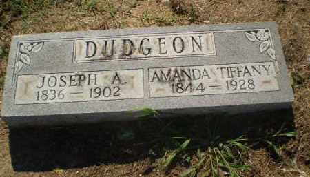 DUDGEON, JOSEPH A - Clay County, Arkansas | JOSEPH A DUDGEON - Arkansas Gravestone Photos