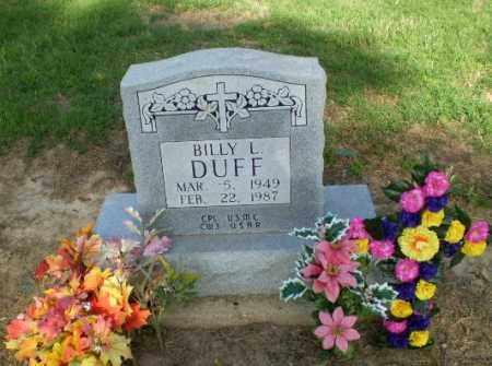 DUFF (VETERAN), BILLY - Clay County, Arkansas | BILLY DUFF (VETERAN) - Arkansas Gravestone Photos