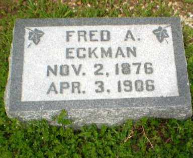 ECKMAN, FRED A - Clay County, Arkansas | FRED A ECKMAN - Arkansas Gravestone Photos
