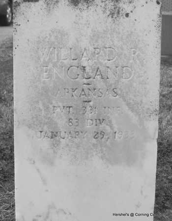 ENGLAND (VETERAN), WILLARD RAYMOND - Clay County, Arkansas | WILLARD RAYMOND ENGLAND (VETERAN) - Arkansas Gravestone Photos