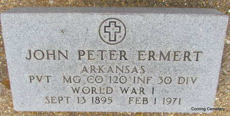 ERMERT  (VETERAN WWI), JOHN PETER - Clay County, Arkansas | JOHN PETER ERMERT  (VETERAN WWI) - Arkansas Gravestone Photos