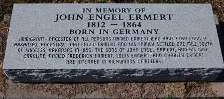 ERMERT, JOHN ENGEL - Clay County, Arkansas | JOHN ENGEL ERMERT - Arkansas Gravestone Photos