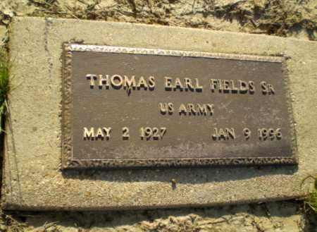 FIELDS, SR. (VETERAN), THOMAS EARL - Clay County, Arkansas | THOMAS EARL FIELDS, SR. (VETERAN) - Arkansas Gravestone Photos