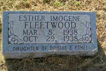 FLEETWOOD, ESTHER IMOGENE - Clay County, Arkansas | ESTHER IMOGENE FLEETWOOD - Arkansas Gravestone Photos