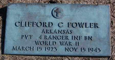 FOWLER (VETERAN WWII), CLIFFORD C - Clay County, Arkansas | CLIFFORD C FOWLER (VETERAN WWII) - Arkansas Gravestone Photos