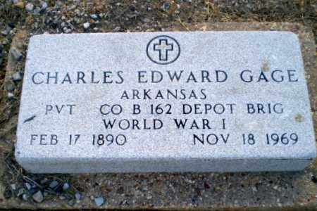 GAGE  (VETERAN WWI), CHARLES EDWARD - Clay County, Arkansas | CHARLES EDWARD GAGE  (VETERAN WWI) - Arkansas Gravestone Photos