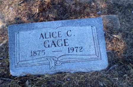 GAGE, ALICE C - Clay County, Arkansas | ALICE C GAGE - Arkansas Gravestone Photos