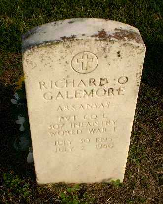 GALEMORE  (VETERAN WWI), RICHARD O - Clay County, Arkansas | RICHARD O GALEMORE  (VETERAN WWI) - Arkansas Gravestone Photos
