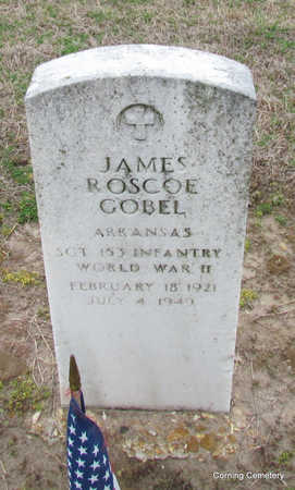 GOBEL  (VETERAN WWII), JAMES ROSCOE - Clay County, Arkansas | JAMES ROSCOE GOBEL  (VETERAN WWII) - Arkansas Gravestone Photos