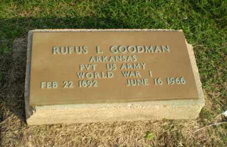 GOODMAN  (VETERAN WWI), RUFUS L - Clay County, Arkansas | RUFUS L GOODMAN  (VETERAN WWI) - Arkansas Gravestone Photos