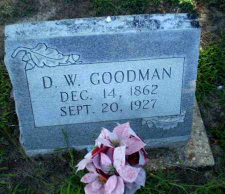 GOODMAN, D.W. - Clay County, Arkansas | D.W. GOODMAN - Arkansas Gravestone Photos