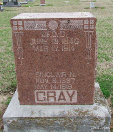 GRAY, SINCLAIR N - Clay County, Arkansas | SINCLAIR N GRAY - Arkansas Gravestone Photos