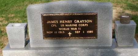 GRAYSON (VETERAN WWII), JAMES HENRY - Clay County, Arkansas | JAMES HENRY GRAYSON (VETERAN WWII) - Arkansas Gravestone Photos