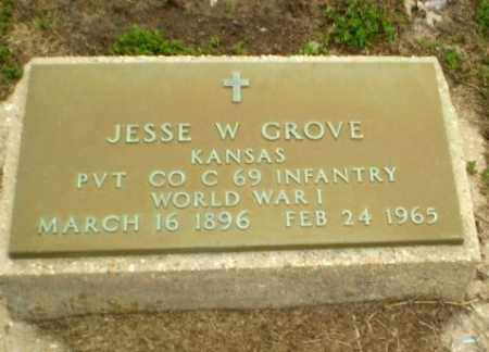 GROVE  (VETERAN WWI), JESSE W. - Clay County, Arkansas | JESSE W. GROVE  (VETERAN WWI) - Arkansas Gravestone Photos