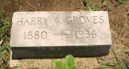 GROVES, HARRY W - Clay County, Arkansas | HARRY W GROVES - Arkansas Gravestone Photos
