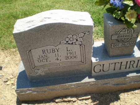 GUTHRIE, RUBY L - Clay County, Arkansas | RUBY L GUTHRIE - Arkansas Gravestone Photos