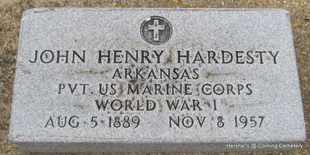 HARDESTY  (VETERAN WWI), JOHN HENRY - Clay County, Arkansas | JOHN HENRY HARDESTY  (VETERAN WWI) - Arkansas Gravestone Photos