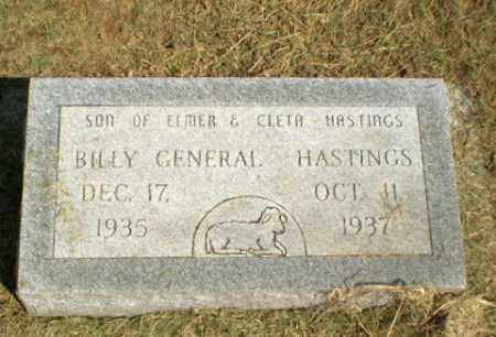 HASTINGS, BILLY GENERAL - Clay County, Arkansas | BILLY GENERAL HASTINGS - Arkansas Gravestone Photos