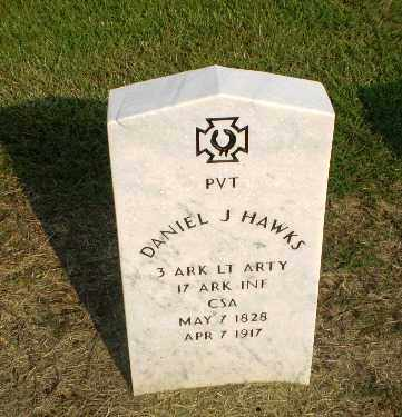 HAWKS  (VETERAN CSA), DANIEL J - Clay County, Arkansas | DANIEL J HAWKS  (VETERAN CSA) - Arkansas Gravestone Photos
