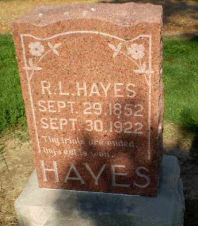 HAYES, R.L. - Clay County, Arkansas | R.L. HAYES - Arkansas Gravestone Photos