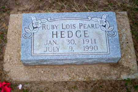 HEDGE, RUBY LOIS PEARL - Clay County, Arkansas | RUBY LOIS PEARL HEDGE - Arkansas Gravestone Photos