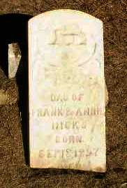 HICKS, INFANT DAUGHTER - Clay County, Arkansas   INFANT DAUGHTER HICKS - Arkansas Gravestone Photos