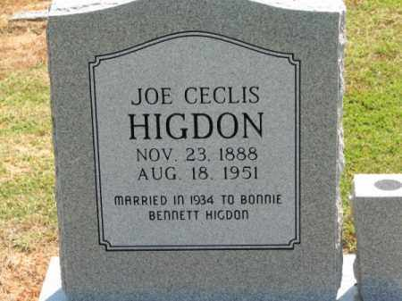 HIGDON, JOE CECLIS - Clay County, Arkansas | JOE CECLIS HIGDON - Arkansas Gravestone Photos