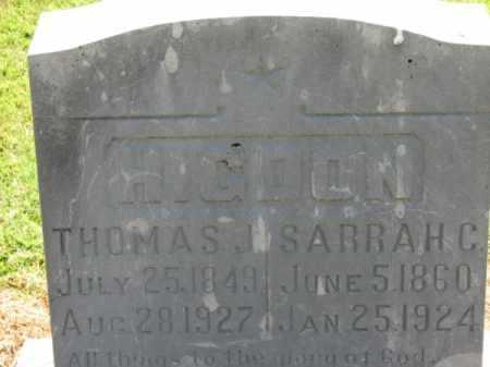 HIGDON, SARRAH C. - Clay County, Arkansas | SARRAH C. HIGDON - Arkansas Gravestone Photos