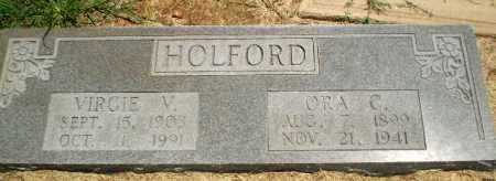 HOLFORD, VIRGIE V - Clay County, Arkansas | VIRGIE V HOLFORD - Arkansas Gravestone Photos