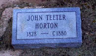 HORTON, JOHN TEETER - Clay County, Arkansas | JOHN TEETER HORTON - Arkansas Gravestone Photos