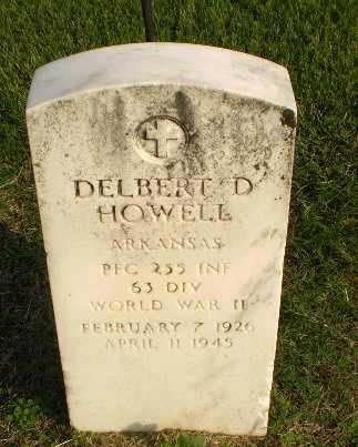 HOWELL (VETERAN WWII), DELBERT D - Clay County, Arkansas | DELBERT D HOWELL (VETERAN WWII) - Arkansas Gravestone Photos