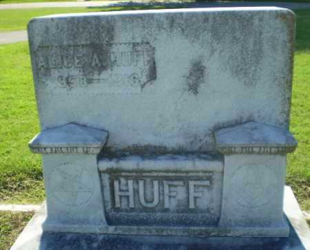 HUFF, ALICE A - Clay County, Arkansas | ALICE A HUFF - Arkansas Gravestone Photos
