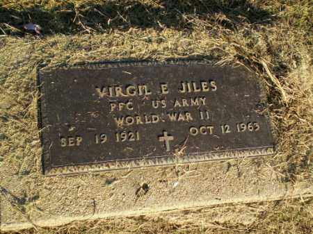 JILES (VETERAN WWII), VIRGIL E - Clay County, Arkansas | VIRGIL E JILES (VETERAN WWII) - Arkansas Gravestone Photos