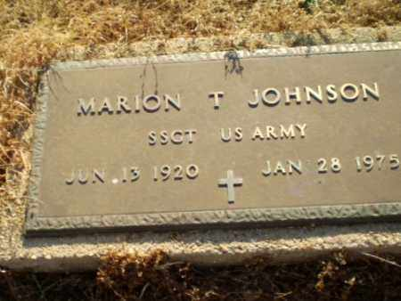 JOHNSON  (VETERAN), MARION T - Clay County, Arkansas | MARION T JOHNSON  (VETERAN) - Arkansas Gravestone Photos