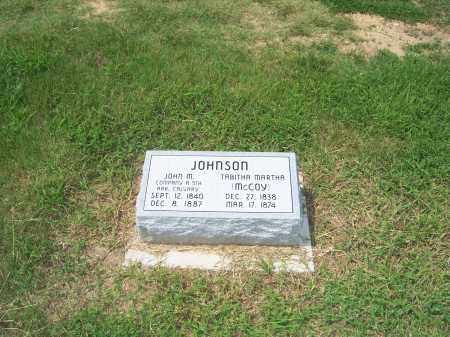 MCCOY JOHNSON, MARTHA TELITHA - Clay County, Arkansas | MARTHA TELITHA MCCOY JOHNSON - Arkansas Gravestone Photos
